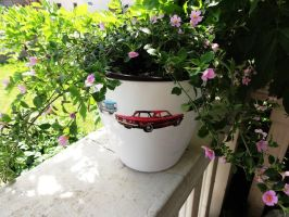 Flower Pots cars all stars Chevrolet Corvair by naraosart