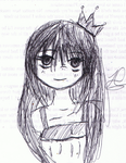 Queen Chibi sketch by haruhixciel