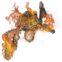 Skeleton Flaming 1[heat,fire,flame,flaming,burning by Madcowchef