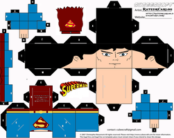 Cubeecraft Classic Superman by RatedrCarlos