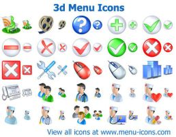 3d Menu Icons by Ikont