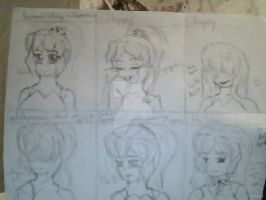 My Face experssions by PrincessofKH