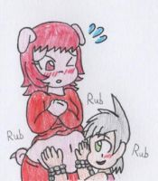 Belly Rubbing by RaijinSenshi