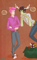 Prince gumball and Marshall lee by AxMongrel