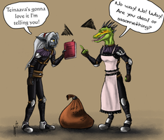 The lusty argonian maid by Hndz