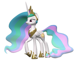Princess Celestia 3D Model by Clawed-Nyasu