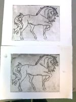 Horse etchings by Dragon-princess08