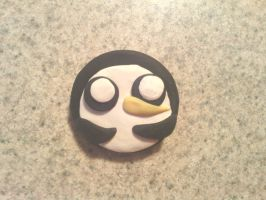 Gunther the penguin pinback button by KitschyCustomCrafts