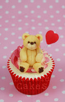 A very Bumble Valentines Teddy Cupcake by MrsBumble