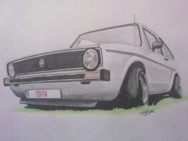 vw golf mk1 by tolgadinmez