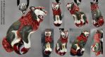 Custom Shisa - Red/Green Male by soulofwinter