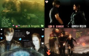 Leon S Kennedy and Angela Miller:Picture Design by Angie010