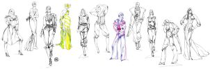 Fashion Sketches by Callista1981