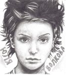 Yulia Volkova Crosshatching by michellerooster6