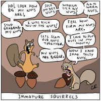 Immature Squirrels by ApothecaryAphid