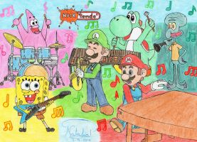 Nicktendo Band by Dino-drawer