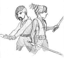 Jedi Duo Ready For Battle by SamwiseTheAwesome
