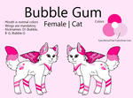 Bubble Gum Reference Sheet by TimidFawn