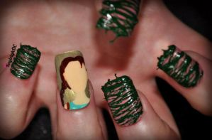 Lara Croft Nail Art by KayleighOC