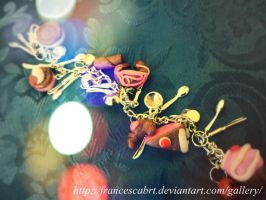 bracelet with charms sweets-bracciale con charms by FrancescaBrt