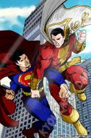 Superman VS Captain Marvel by haddek