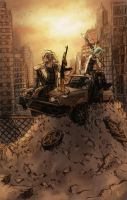 Lillith and Mercedes - post-apocalyptic by oomizuao