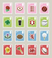 Postage Stamps by andrewackroyd