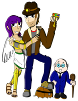 The Treasure Hunter, The Goddess, and The Gnome by LordRobrainiac