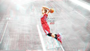 Blake Griffin 3D Wallpaper by rhurst