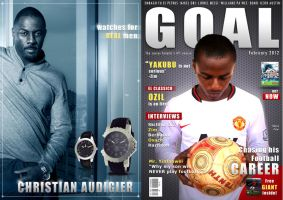 Goal magazine cover - front and back by mohammedAgbadi