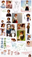 A lot of hetalia oc drawings by FlopyLopez