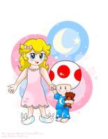 .:Young Peach and Toad:. by The-Awesome-Blossom