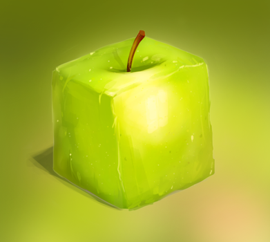 My square apple by Atamaniv