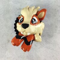 Arcanine Pop-Out Button by LeiliaClay