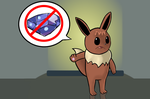Rise the Eevee Water Stone rejection by Pfaccioxx
