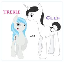Treble and Clef by BeeTrue