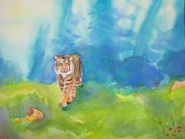 Tiger and girl 2 by emi-esp