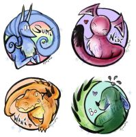 Sumi Badges by Lithe-Fider