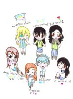 Me and friends as chibi Part 1 by HeavensEngel