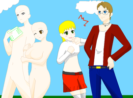 Hetalia Double Date Collab by blackblade94