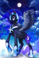 Nightmare Moon by GreyRadian