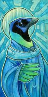 Green Jay Saint by ursulav
