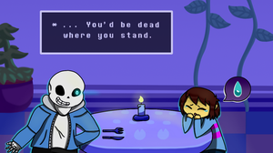 Undertale: You'd be Dead Where You Stand by LeafiesArt