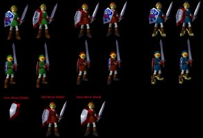 Some Link sprites by NeoMetalSonic360