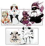[OPEN] ADOPT AUCTION 169 - Shadowmonsters by Piffi-adoptables