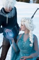 JELSA COSPLAY - Winter spell by WhiteRaven00