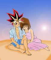 Atem and Anzu by teanachan