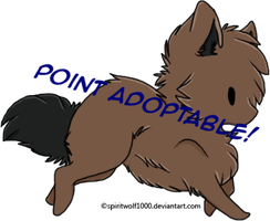 Chibi Wolf Adoptable #1 [ALWAYS OPEN] by Reshiram6