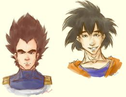 Two Saiyans by Tsarashi