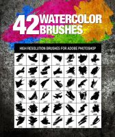 42 Watercolor Brushes by env1ro